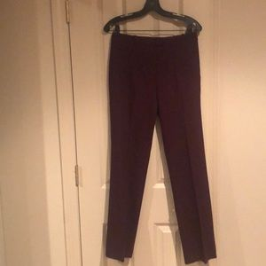 Wine colored Theory slacks